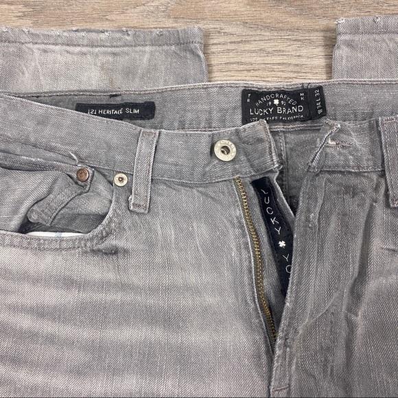 Lucky Brand Heritage Slim Jeans- Gray